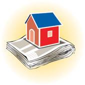 House on Newspaper